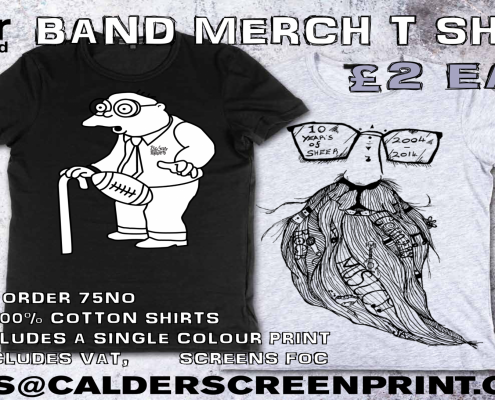 band merch - we won't be beaten on price!!!!