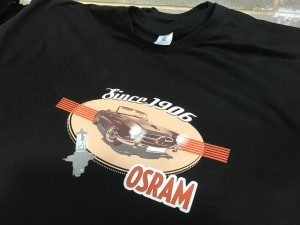 Osram eight colour discharge print