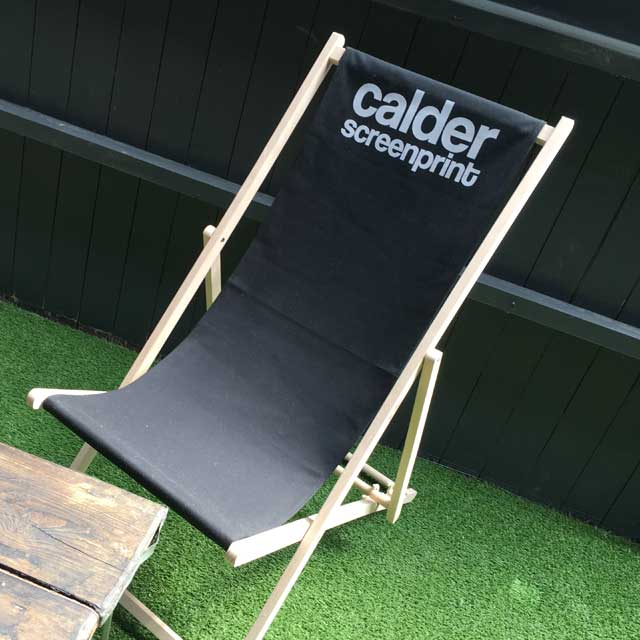 printed deck chairs